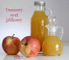 Domowy ocet jabłkowy - niezawodny przepis - Gotuj zdrowo, kolorowo! Bump Ahead, Purple Haze, Pear, Onion, Recipies, Food And Drink, Treats, Apple, Fruit