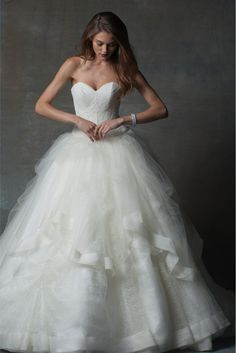 Isabelle Armstrong Wedding Dresses promise to make every woman feel exceptional. As she walks down the aisle wearing one of these amazing creations, an Isabelle Armstrong bride will radiate splendor, passion and grace, much like a fully blossomed rose. Princess Wedding Dresses, Dream Wedding Dresses, Bridal Dresses, Bridesmaid Dresses, Beautiful Wedding Gowns, Beautiful Dresses, Isabelle Armstrong Wedding Dresses, Fantasy Wedding, Mod Wedding