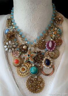 by Kay Adams --- recycling retro baubles