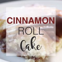 When you need a decadent, simple, please-everyone dessert, look no further because this cinnamon roll cake has completely and utterly won us over. Cupcakes, Cupcake Cakes, No Bake Desserts, Delicious Desserts, Yummy Food, Cinnamon Cake, Cinnamon Rolls, Baking Recipes, Cake Recipes