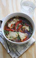 Hot and sour dumpling soup - could use squash in the dumplings?