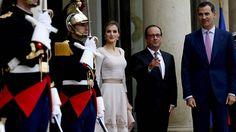 Hollande recibe en El Elíseo a los reyes Felipe y Letizia