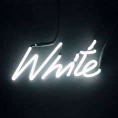 Neon Colour Word Lamp - White (2 290 ZAR) ❤ liked on Polyvore featuring home, lighting, pictures, glass lighting, tube lights, white tube lights, white lights i colored tube lights