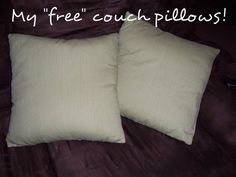 Domestic Bliss Squared: Thrifty Tip Tuesday: Upcycle Old Bed Pillows Sewing Pillows, Diy Pillows, Couch Pillows, Throw Pillows, Sewing Crafts, Sewing Projects, Diy Projects, Free Couch, Home Crafts