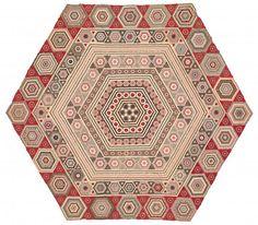 Making the Australian Quilt | NGV.  Prudence Jeffrey (nee Pascoe) born England 1831, arrived Australia 1857, died 1900 Miniature hexagons quilt 1857 (detail) cotton 183.0 x 183.0 cm