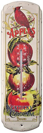 Apple Time Thermometer - Kruenpeeper Creek Country Gifts