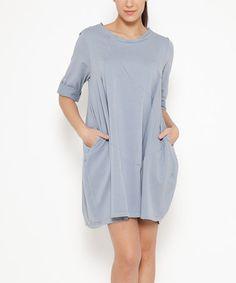 Look at this #zulilyfind! Gray Pocket Shift Dress #zulilyfinds