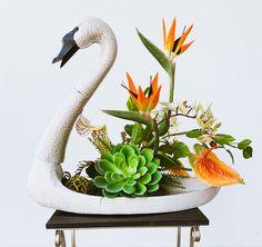 Faux Flower Arrangements, Table Arrangements, Faux Flowers, Silk Flowers, Halloween Decorations, Christmas Decorations, Paradise Flowers, Artificial Tree, Tropical Birds