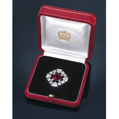 An extremely rare ruby and diamond brooch, by #Cartier #christiesjewels