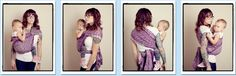 Robin's Hip Carry with Cross Passes  {from Babywearing 102: Wrapping 360 Project}  ***long wrap carry
