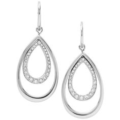 Glitz Teardrop Earring JF00446 ($70) ❤ liked on Polyvore featuring jewelry, earrings, bijoux, accessories, tear drop earrings, teardrop shaped earrings, earrings jewelry and teardrop earrings