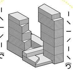 Oma Architecture, Rem Koolhaas, Mixed Use, Concept Diagram, Dezeen, Presentation, Illustration, House, Home Decor