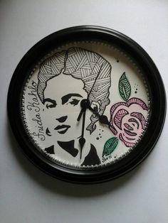 Viva la vida  Frida inspired clock by fromtheart143 on Etsy