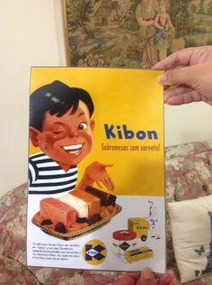 Cartaz Propaganda De Lata E Carrinho Kibon Decada De 50 - R$ 18,00 em Mercado…