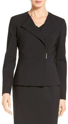 BOSS 'Jenudi' Wrap Front Stretch Wool Suit Jacket