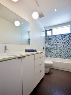 Rubber Bathroom Flooring Home Design Ideas, Pictures, Remodel and Decor #glass #shelves #bathroom http://bathroom.nef2.com/2017/05/16/rubber-bathroom-flooring-home-design-ideas-pictures-remodel-and-decor-glass-shelves-bathroom/ #rubber flooring bathroom Rubber Bathroom Flooring Home Design Photos I am a big fan of tile but always look for alternatives to it — for clients who don't like the look of grout lines nor the maintenance required to keep… Read more