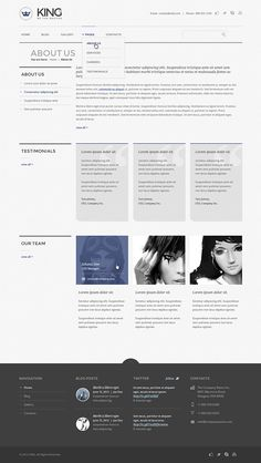 KING – a theme that combines minimal and perfect grid design with functionality and usability.