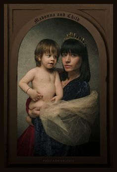"""ART PHOTOGRAPHY PAUL ADRIAN CHIS """" MADONNA AND CHILD """" RENAISSANCE RELOADED  by Paul Adrian Chis"""