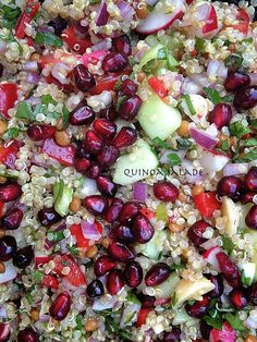 Quinoa Salad with cucumber and pomegranate