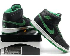 newest e73f9 a5841 Phat Jordans 1 Black Green, clinck picture to buy jordans.