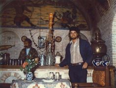 (Randomly digitizing and archiving old photos.) Cafe Saraye-E Moshir Dined there while in Shiraz, Iran with my aunt Lelia and my grandmother Mammo (Enid). Cafe's official photographer took some Polaroid images while we relaxed and escaped the heat.