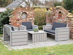 High Quality Loungemöbel Set 3 Holz, Inkl. Polster   Lieferung Komplett Montiert Amazing Design