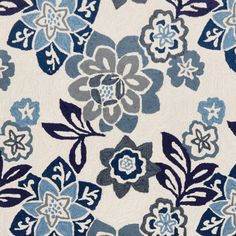 floral rug (china blue) from Thos. Baker