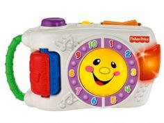 """The Fisher-Price Laugh and Learn Learning Camera is one of my baby's favorite toys because he loves to point it at us and say """"cheese!"""" The Fisher-Price Laugh and Learn Learning Camera has all the realistic features a baby would love. 1 Year Old Christmas Gifts, Christmas 2016, Singing Techniques, Best Toddler Toys, Toddler Boys, Kids, Toys For 1 Year Old, Toy Camera"""