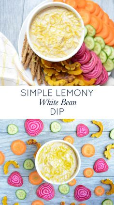 Simple Lemony White Bean Dip. An easy, healthy, real food appetizer, dip, or snack. Naturally gluten-free, dairy-free, and nut-free.…