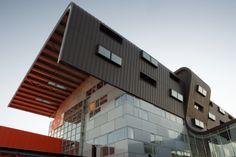 Engineer School ENIM, Metz (France) by Architecture Studio #Architecture #Roofing #France #Project #AnthraZinc #VMZINC #QuartzZinc #Education