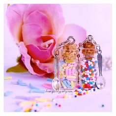 Candy Sprinkle Bottle Necklace  Sweet Sprinkle And by tranquilityy
