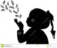 A Child Blowing Out Leaves, Silhouette Royalty Free Cliparts, Vectors, And Stock Illustration. Fairy Silhouette, Silhouette Curio, Silouette Art, Drawing Sketches, Drawings, Barn Wood Signs, African American Girl, Letter Stencils, Crayon Art