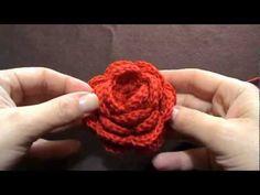 Alina Ioana Badarau Trescovan shared a video Crochet Flower Squares, Crochet Flowers, Irish Crochet, Knit Crochet, Tutorial Rosa, Crochet Bracelet, Crochet Videos, Wire Art, Crochet Designs
