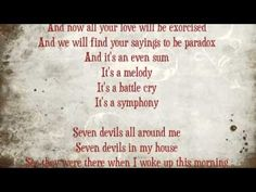 LOVE! this song<3Seven devils by Florence+ the machine