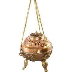 Antiqued Hanging Incense Burner