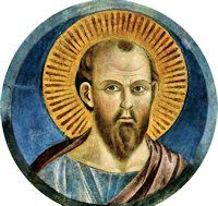 JAN 25 - St. Paul, named Saul at his circumcision, a Jew of the tribe of Benjamin, was born at Tarsus, the capitol of Cilicia. He was a Roman citizen. He was brought up as a strict Jew, and later became a violent persecutor of the Christians. While on his way to Damascus to make new arrests of Christians,