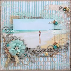 Michelle Grant desiGns: The Serenity ~ Australian Scrapbook Ideas #19 ~ Tried & Tested - Texture Play ~ Dusty Attic