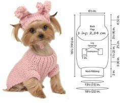 Ideas Diy Dog Clothes Knit For 2019 - costume ideas Dog Sweater Pattern, Crochet Dog Sweater, Dog Pattern, Free Pattern, Small Dog Clothes, Pet Clothes, Crochet Dog Clothes, Cat Scarf, Pet Costumes