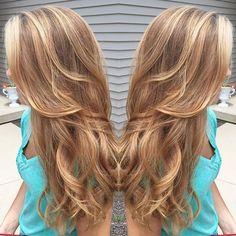 caramel+hair+color+with+highlights
