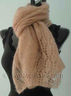 blushing lace shawl scarf