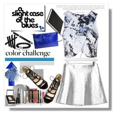 """""""Color Challenge"""" by adduncan ❤ liked on Polyvore featuring moda, Boutique, Kate Spade, Trish McEvoy, Topshop, Betsey Johnson, David Yurman, colorchallenge y blueandsilver"""