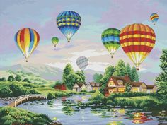 VK is the largest European social network with more than 100 million active users. Cross Stitch Sea, Small Cross Stitch, Cross Stitch Kits, Cross Stitch Patterns, Balloon Glow, Cross Stitch Landscape, Card Patterns, Hobbies And Crafts, Cross Stitching
