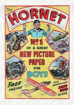 First Edition cover of The Hornet Comic (UK) Comics Uk, Old Comics, School Memories, My Childhood Memories, Comic Art, Comic Books, British Boys, Kids Tv, Hornet