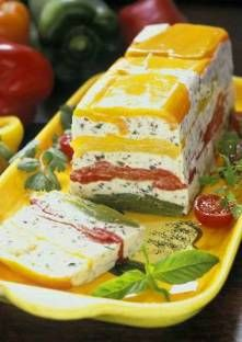 Terrine Peppers in white Goat Cheese - Terrine de Poivrons au Fromage Blanc de Chèvre