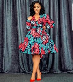 Chic Ankara dress styles can be worn to different occasion and you won't feel out of place. In fact chic Ankara dress styles coordinated with complementing accessories have a way of enhancing your overall look. African Fashion Ankara, Latest African Fashion Dresses, African Print Fashion, African Prints, Africa Fashion, African Style, African Fabric, Short African Dresses, Short Gowns