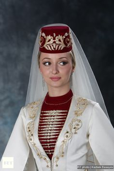 Kabardinsky woman in national costume