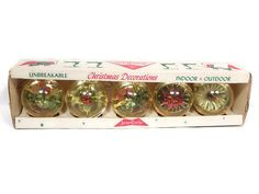 Vintage Jewelbrite Christmas Decorations by RascalsRarities