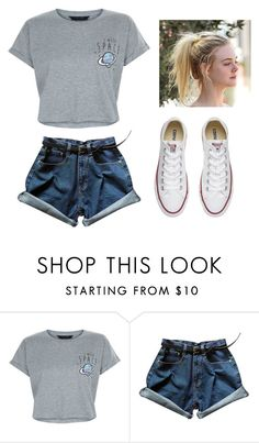"""""""#454"""" by wolffffffff ❤ liked on Polyvore featuring New Look and Converse"""