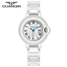 59.95$  Buy here - http://alil2d.worldwells.pw/go.php?t=32670751051 - 2016 New Top Ceramic Watches Women luxury Brand GUANQIN Casual Waterproof Shock Resistant Clock Ladies Dress Quartz Wristwatches
