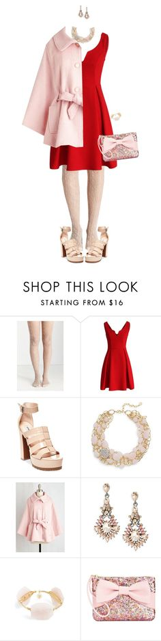 """Put On Your Red Dress"" by polylana ❤ liked on Polyvore featuring moda, Chicwish, Steve Madden, R.J. Graziano, Catherine Stein, Bourbon and Boweties, Betsey Johnson e reddress"